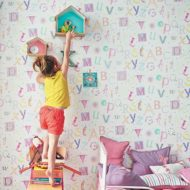 Papel pintado infantil Summer Camp y stickers de Camengo