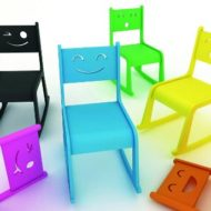 Sillas de diseño infantiles Happy Chair de Kimoo
