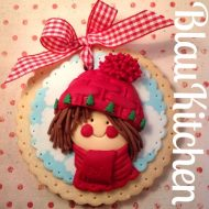 Galletas navideñas decoradas con fondant. BlauKitchen